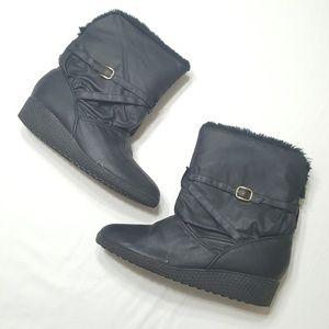 4/$25 Khombu 9 Ankle Fur Boots Booties Cuffed Shoe